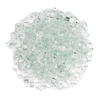 Fire glass clear beads