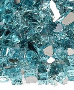 blue fire glass reflective quarter inch