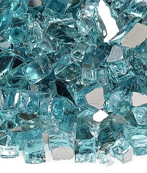 blue fire glass reflective quarter inch
