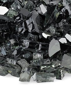 reflective fire glass black sample