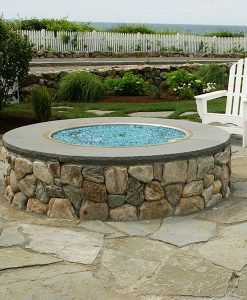 azuria fire glass fire pit