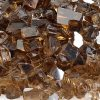 fire pit glass copper reflective sample