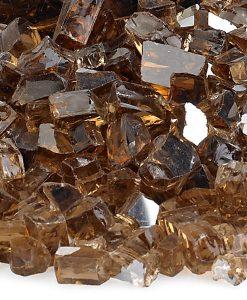 fire pit glass copper reflective sample