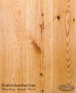 red oak hardwood prefin