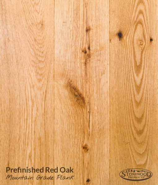 red oak hardwood prefin