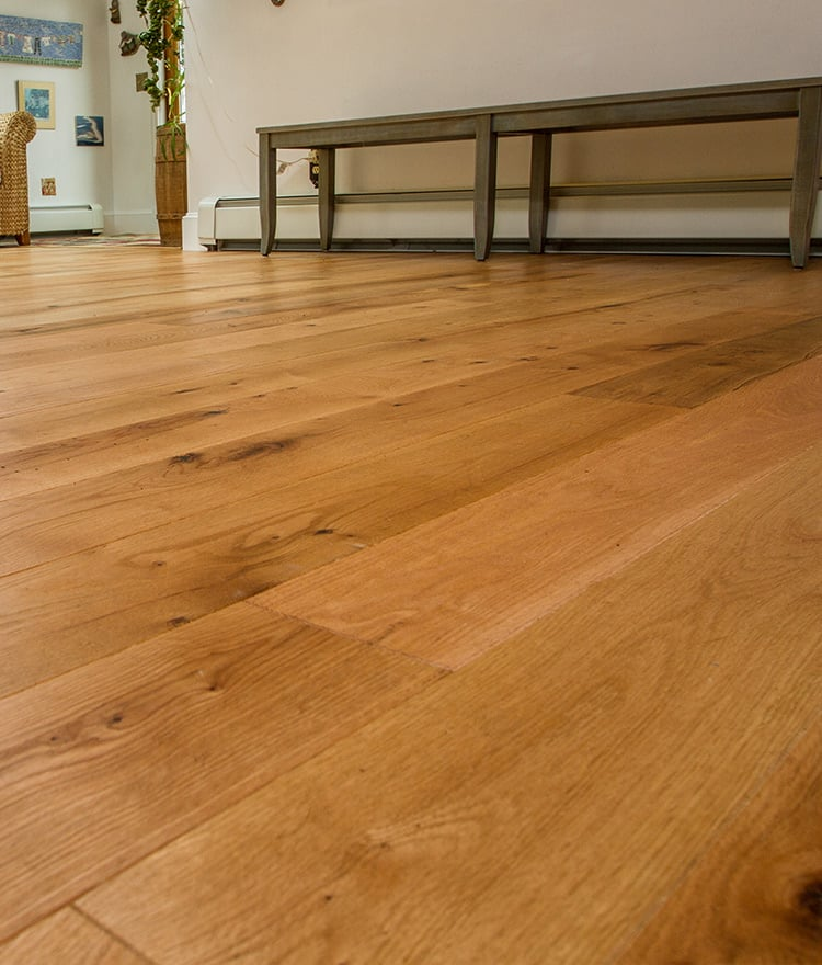 Prefinished red oak hardwood rubio finish