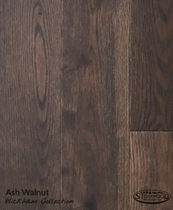 Prefinished Wirebrushed Ash, Walnut Shade - Wickham Collection Hardwood Floors