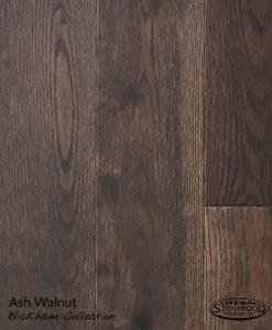 Prefinished Wirebrushed Ash, Walnut Shade - Wickham Collection Hardwood Floors