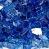 reflective fire glass cobalt blue sample