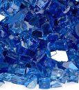 reflective fire glass cobalt blue sample