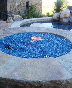 reflective fire glass blue quarter inch