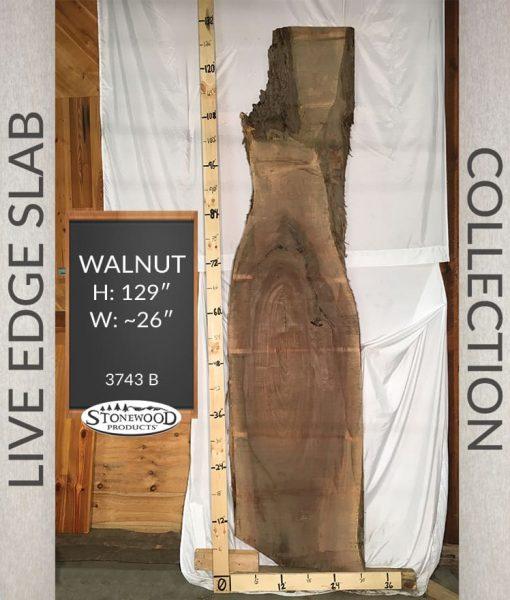 Natural Edge Slab - Live Edge Slab- Walnut