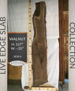 Natural Walnut Live Edge Slab Wood