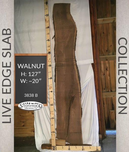 Natural Walnut Live Edge Slab Wood