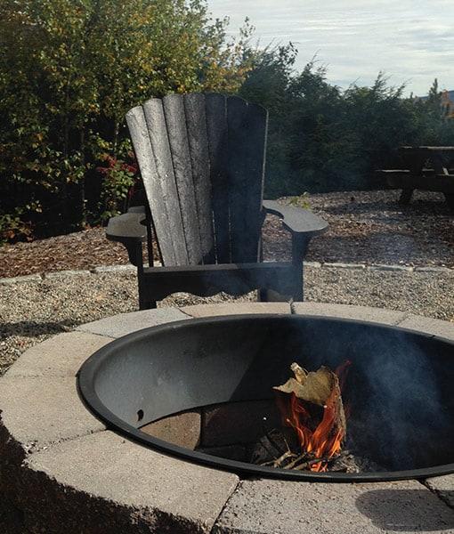 wood fire pit smokeless