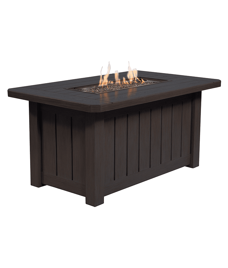 50u2033x30u2033 Rectangular Aluminum Fire Pit | Ebel Outdoor Furniture