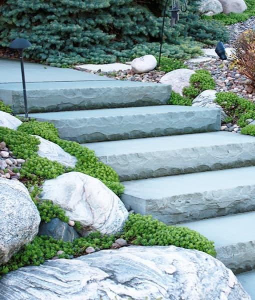 tumbled steps natural blue