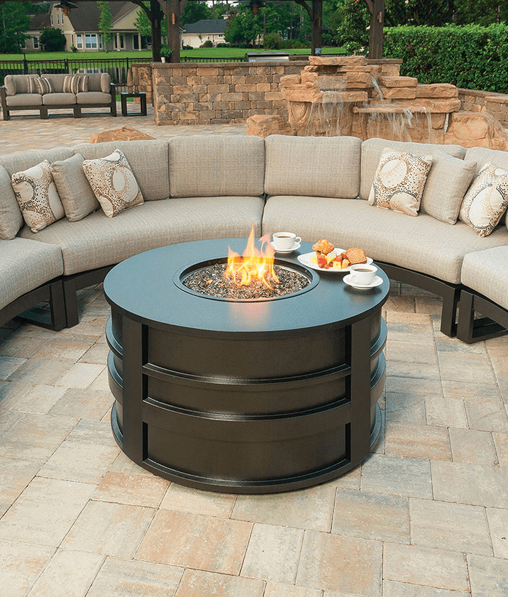 Palermo Round Fire Pit - Luxury Palermo Fire Pit Ebel Outdoor Furniture Stonewood Products