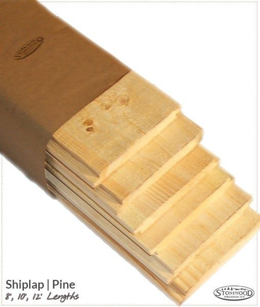 shiplap pine lumber pack