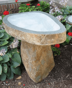 Granite Boulder Bird Bath - Available in 3 sizes