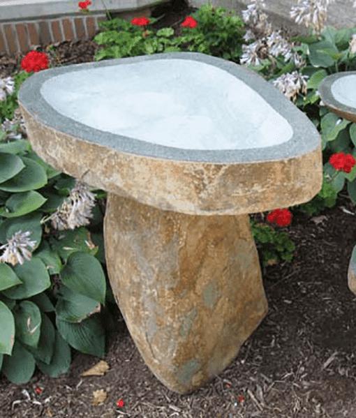 Granite Boulder Bird Bath - Available in 3 sizes