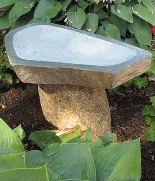 Boulder Granite Bird Bath