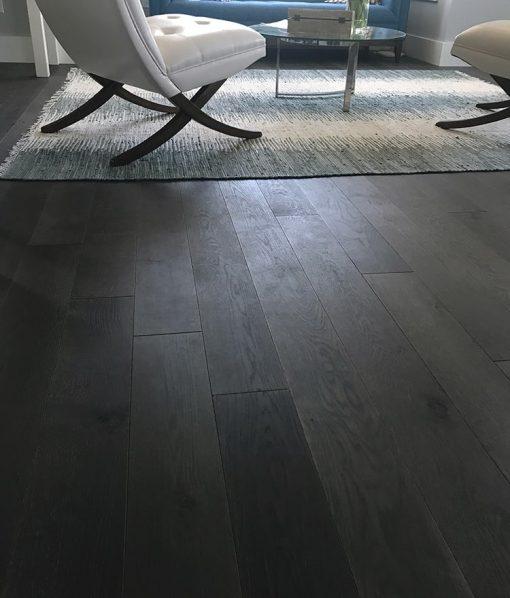 Dark grey hardwood florors