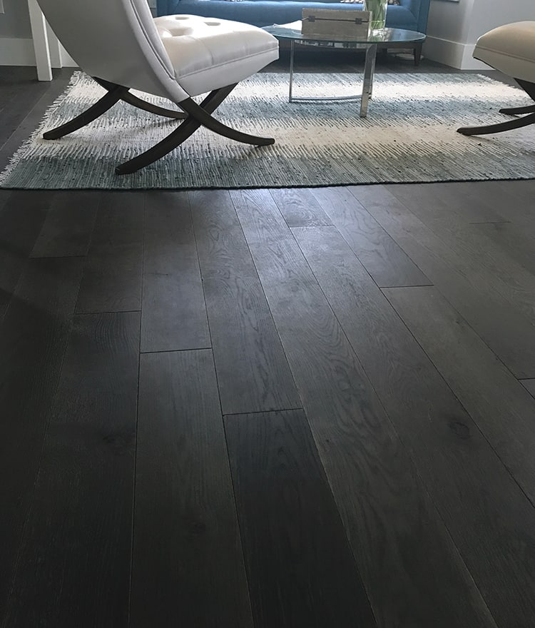 Dark grey hardwood florors