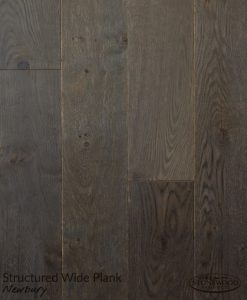 Dark Wood Floor Structured Wide Plank Newbury