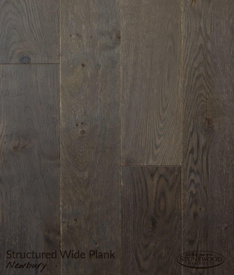 Dark Wood Floor Structured Wide Plank Newbury