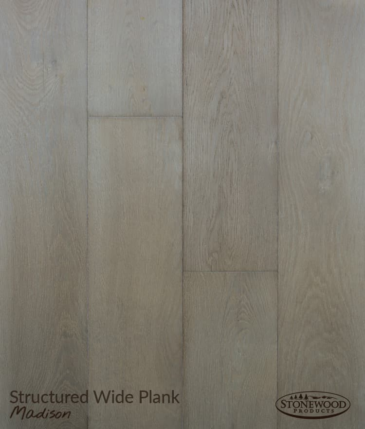 Grey Engineered Wood Flooring, Madison Structured Wide Plank Floors