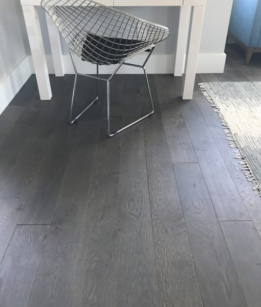 Prefinished engineered dark grey floors