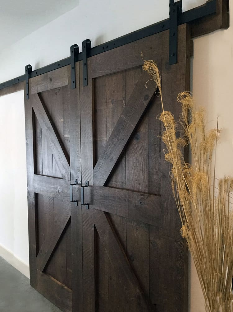 Completed DIY Barn Door