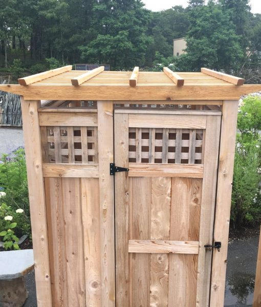 outdoor shower privacy panel