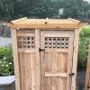 Cedar Pergola Roof Outdoor Shower