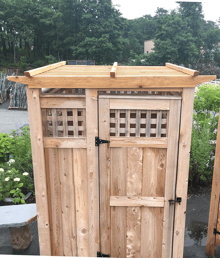 Freestanding Cedar Outdoor Showers