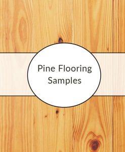 pine plank flooring sample