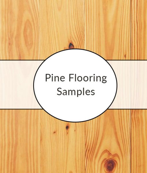 pine plank flooring sample