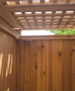 outdoor shower privacy