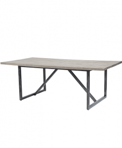 "82"" Outdoor Dining Table with Amalfi Carbon Base and Roma Ash Top"