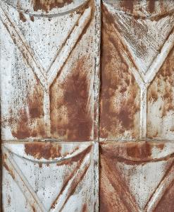 Antique Tin Ceiling Tiles Closeup