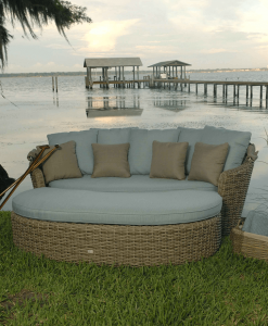 Dreux Outdoor Daybed with Ottoman