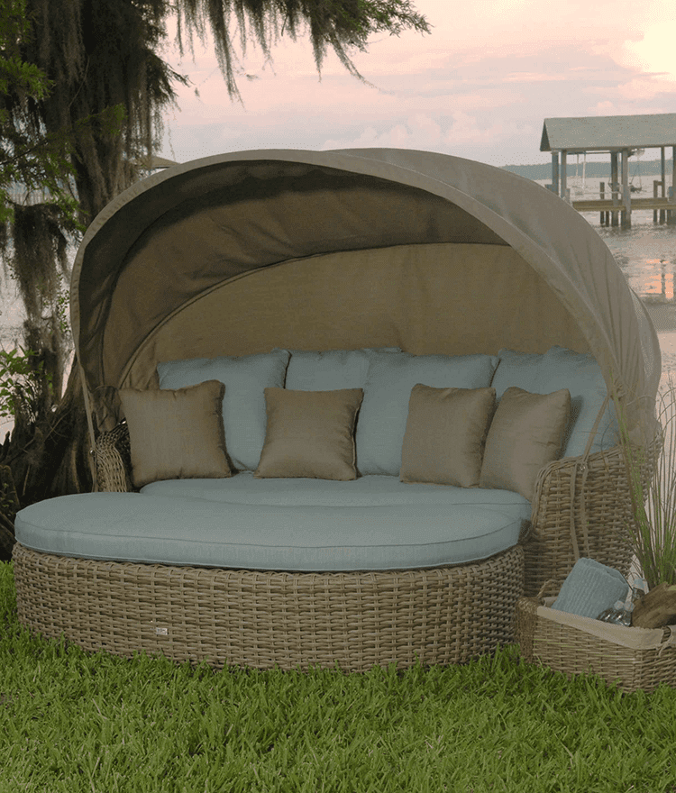 High Quality Dreux Outdoor Daybed With Ottoman And Canopy
