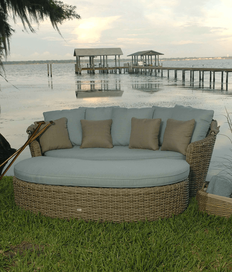 Dreux Outdoor Daybed Ebel Outdoor Furniture Stonewood Products