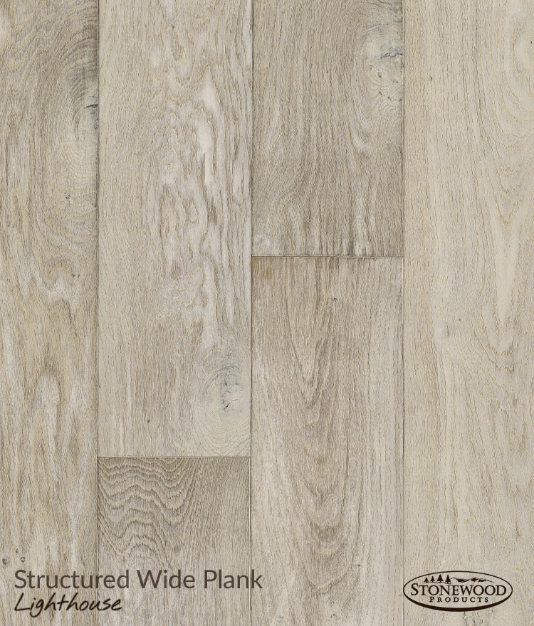 French Oak Flooring, Structured Wide Plank Lighthouse