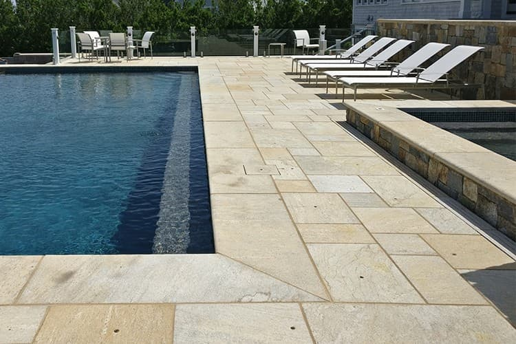 stone pavers pool