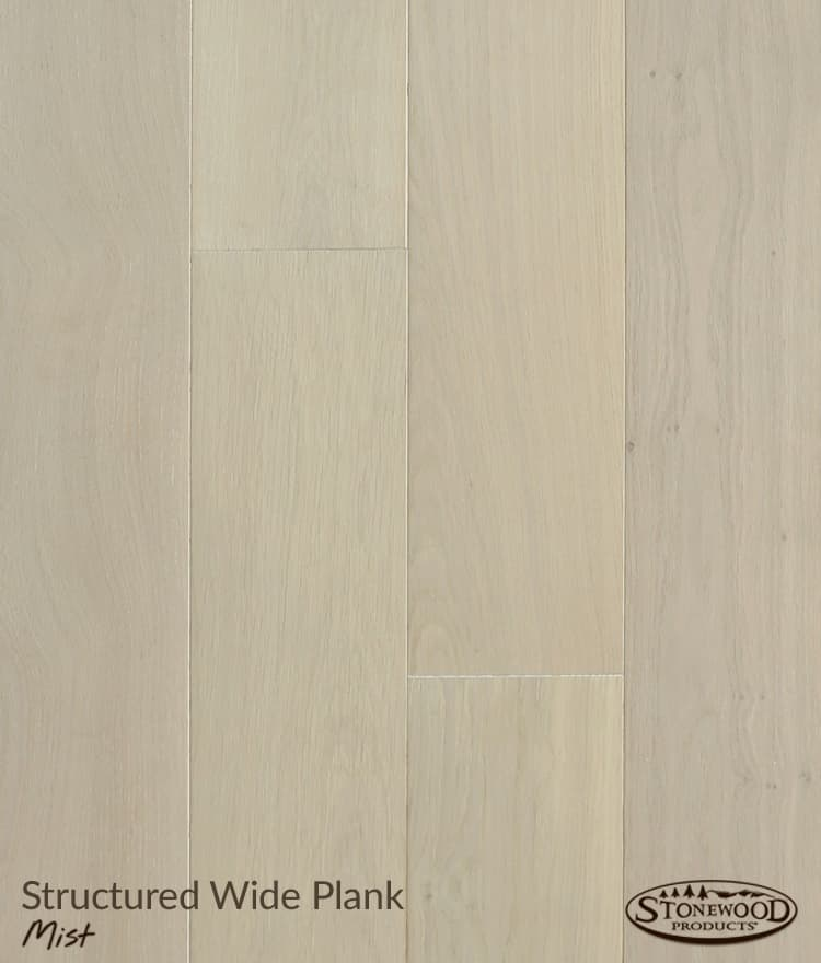 Light Wood Floors, Structured Wide Plank Mist