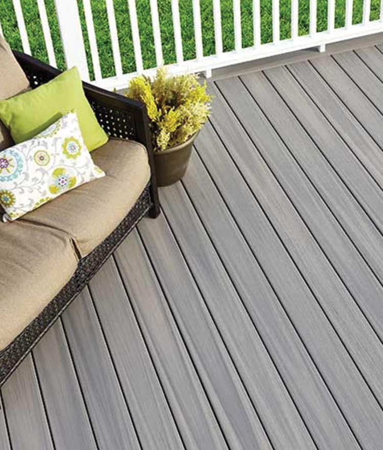 Pvc deck stonewood products for Vinyl decking material
