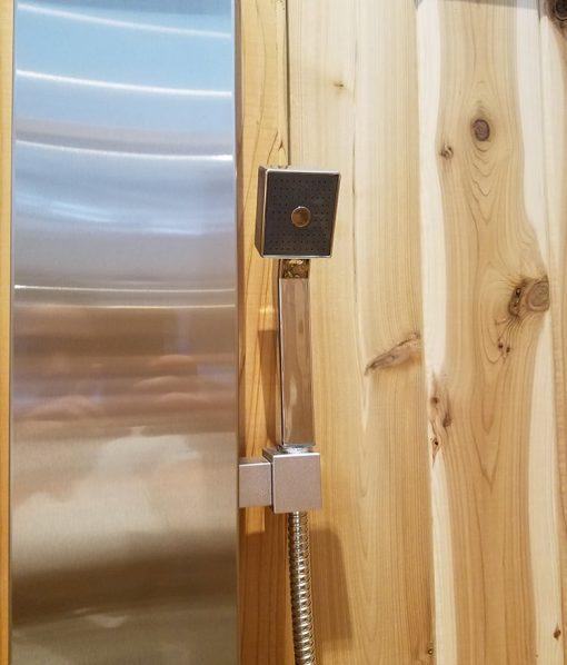 Handheld Shower Attachment on Shower Panel