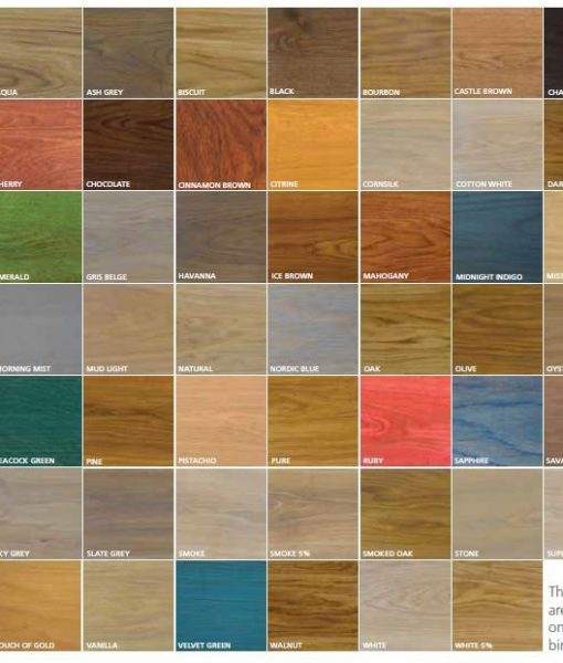 Rubio Monocoat Oil Plus 2C Color Swatches